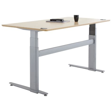 motorized sit stand desk shop conset 501 29 laminate electric sit stand desk