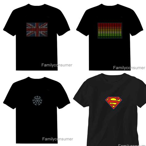 T Shirt 1d Baam Best Quality sound activated led t shirt light up el