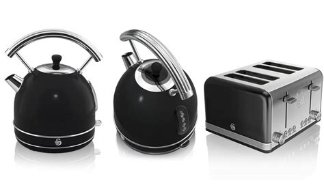 swan retro dome kettle and toaster groupon goods