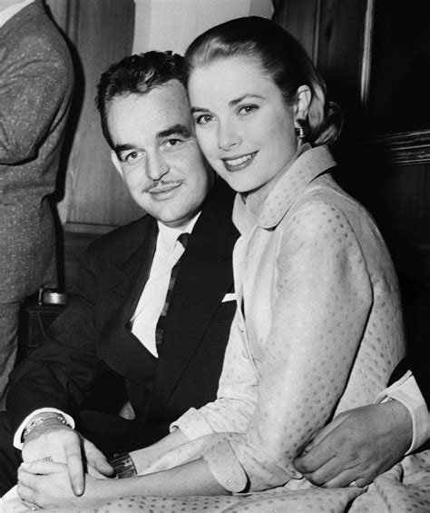 prince rainier and grace kelly at engagement announcement