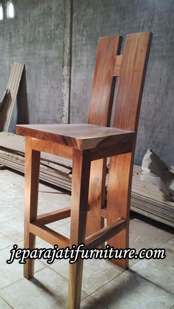 Kursi Bar Stainless kursi bar kayu trembesi jepara jati furniture
