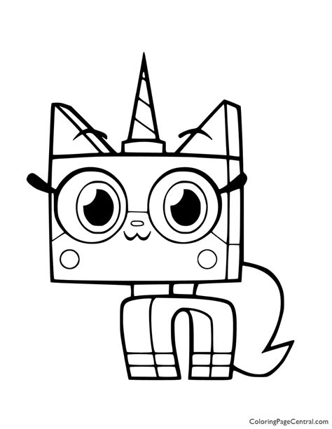 UniKitty Coloring Page 01   Coloring Page Central