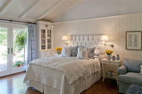 How To Decorate A Bedroom In Country Style by Master Bedroom Clean Blue White Country Style