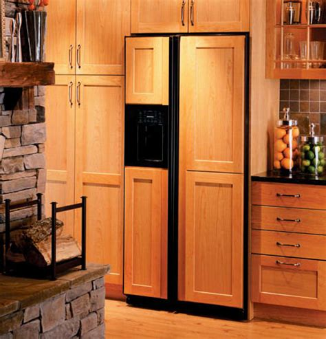refrigerators that accept cabinet panels ge psh23pgtbv 22 6 cu ft counter depth by