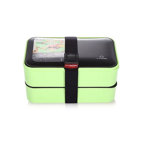 Fukorou 2 Layer Lunch Box portable 2 layer green lunch box buy at lunchbox sale