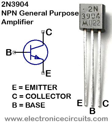 transistor npn pinout colpitts 1 to 20 mhz oscillator electronic circuits