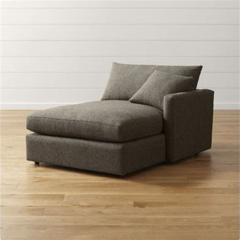 right arm chaise lounge furniture lounge ii right arm chaise crate and barrel