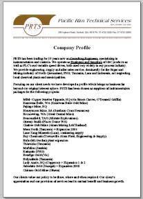 pacific rim technical services company profile