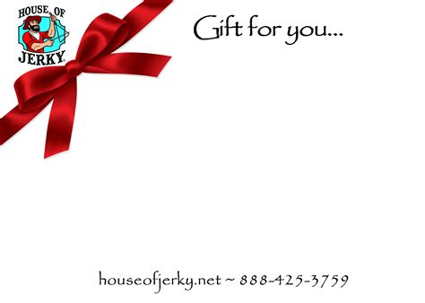 Red Gift Card - gift card red ribbon house of jerky