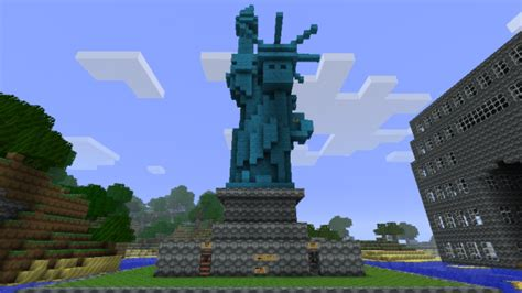 house ideas minecraft minecraft building ideas statue of liberty