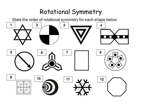Rotational Symmetry Worksheets by Whiteboardmaths 169 2007 All Rights Reserved Ppt