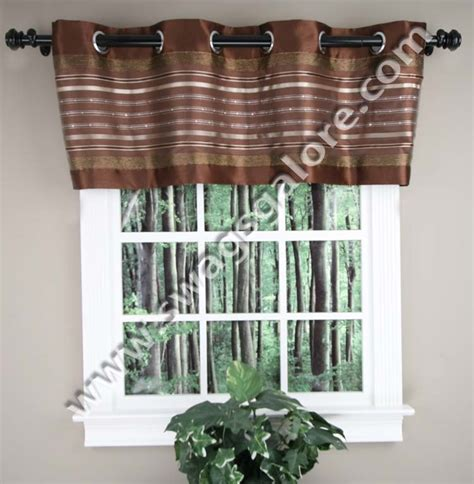 grommet valance silver kitchen valances