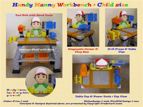 handy manny work bench handy manny work bench 3d sculpt paint by penelope