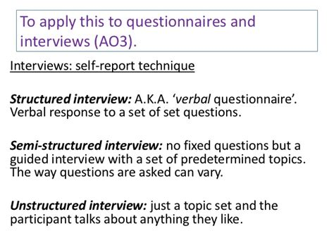 semi structured template quantitative and qualitative data questionnaires interviews