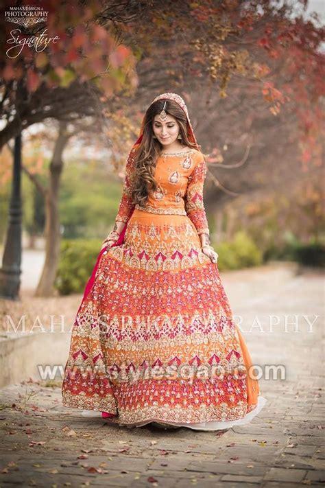 latest bridal mehndi dresses wedding collection