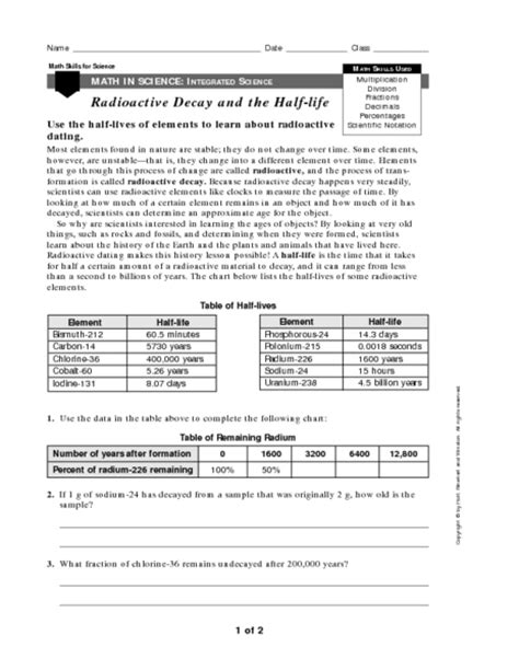 Nuclear Decay Worksheet by Nuclear Decay Equations Worksheet Answers Images