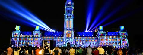 show lights oh canada what a light show on parliament hill in ottawa