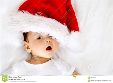 santa hat music box baby with santa hat stock photo image of charming 12835494