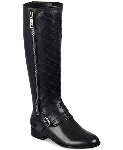 marc fisher boots lyst marc fisher joanna boots in black