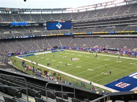 Metlife In Oklahoma City Oklahoma With Reviews Ratings | club seats with just an ok view metlife stadium section