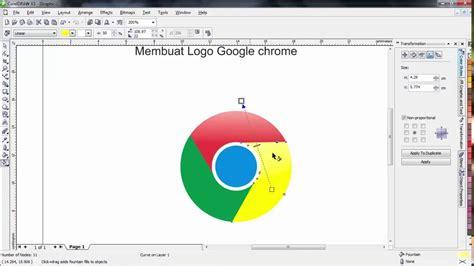 membuat logo google chrome dengan coreldraw coreldraw x3 cara membuat logo google chrome sederhana