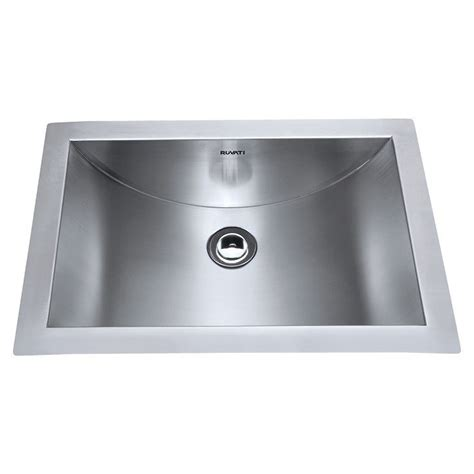 15 Inch Bathroom Sink by Ruvati Rvh6110 Ariaso 21 X 15 Inch Brushed Stainless Steel