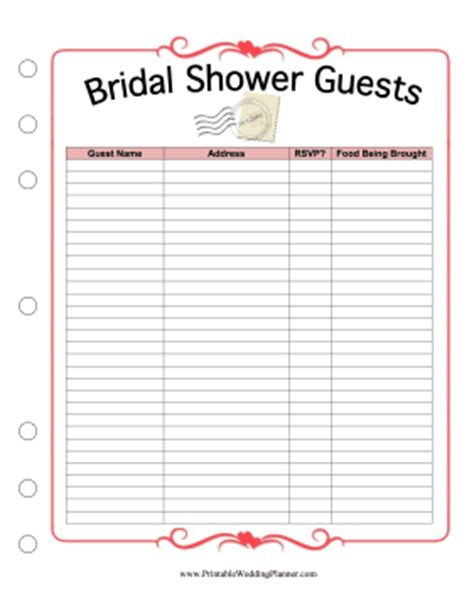 7 best images of bridal shower planning printable bridal