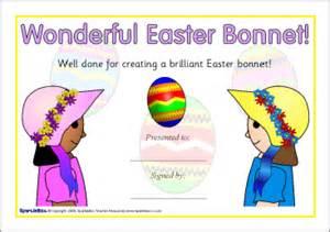 easter bonnet printable templates easter bonnet certificates sb2210 sparklebox