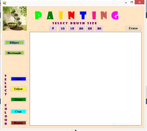 paint software c source code