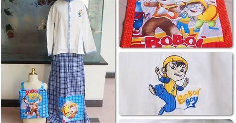 Set Sarung Koko Car Merah grosir mukena murah jual koko set sarung boboiboy biru murah