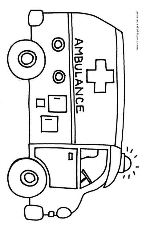 Ambulance Coloring Pages Coloring Pages And Sheets Can Be Found In The Bus Color Page Ambulance Pictures To Colour