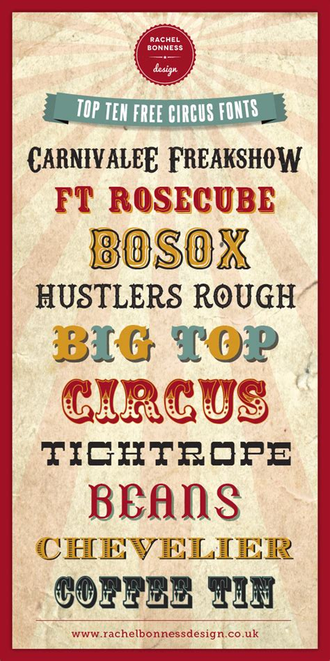 printable carnival fonts circus letters