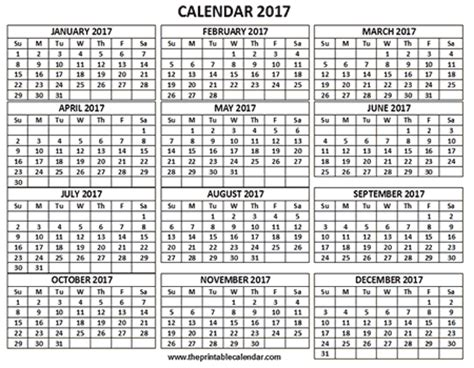12 month calendar template printable 2017 calendar one page 12 month calendar