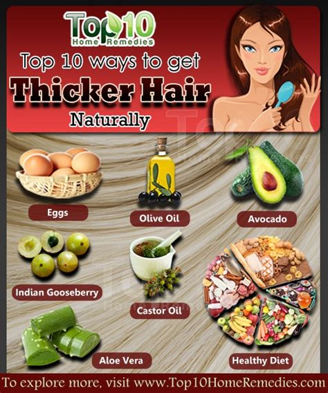 homemade hair thickening treatments how to get thicker hair naturally top 10 home remedies