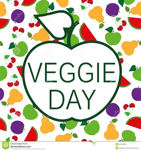 the five day veggie plan books veggie day royalty free stock images image 37634289