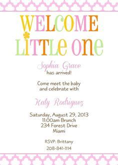 Welcome Baby Party Invitations Cimvitation Welcome Invitation Template
