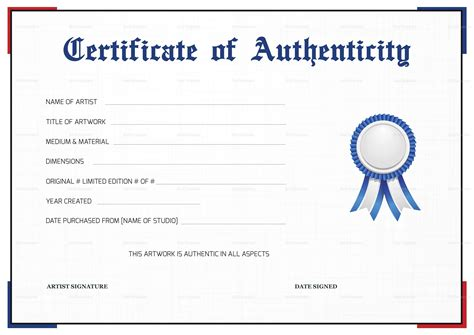 free printable certificate of authenticity templates free printable certificate of authenticity certificate