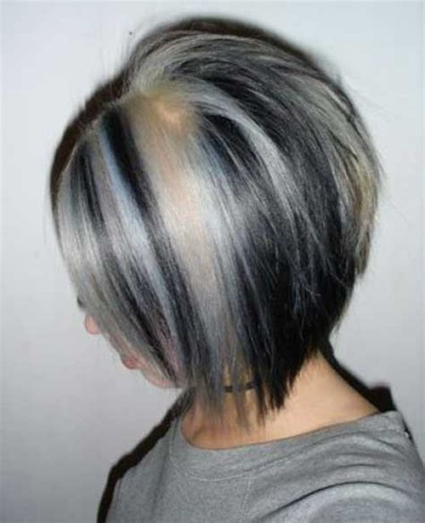 gray hair black lowlights on gray hair short hairstyle 2013 20 short hairstyle color ideas short hairstyles 2017