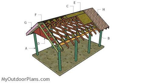 how to build a carport gable roof myoutdoorplans free