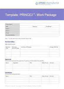 prince2 174 work package template apmg business books