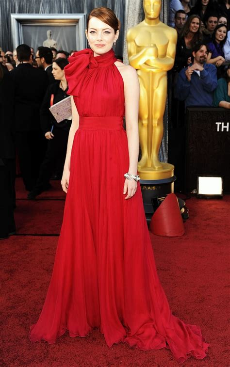emma stone red dress emma stone oscars best dresses of all time us weekly
