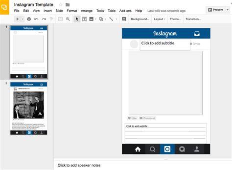 Instagram Template Docs Teachingtechnix Instagram Template With Google Slides
