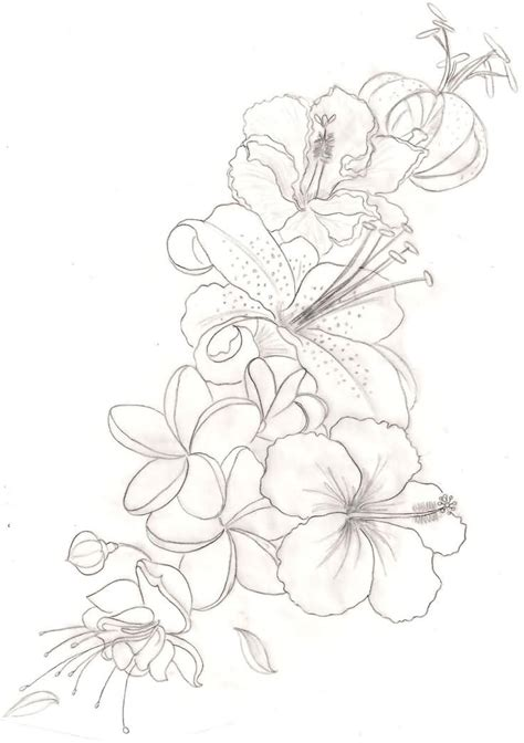 outline orchid flower tattoos design my style
