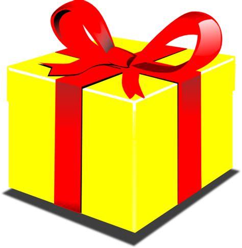 presents clip yellow present clip at clker vector clip