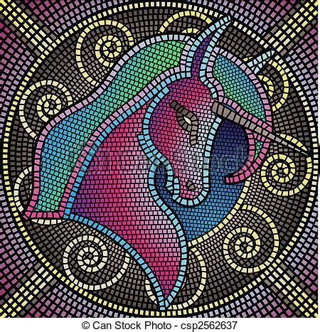 cenefas de unicornio mosaico unic 243 rnio azulejos formando ilustra 231 227 o