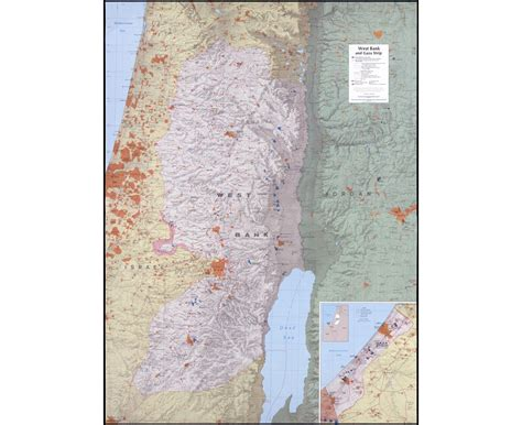 how big is the west bank maps of gaza detailed map of gaza in