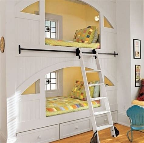 cool bunkbeds bunk beds built into wall window bed pinterest beds and bunk bed
