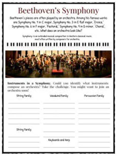 beethoven biography and worksheet beethoven worksheet geersc