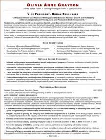 Sle Executive Human Resources Resume The Executive Resume Sle For Hr Vp Can Help You Make A Professional And Document