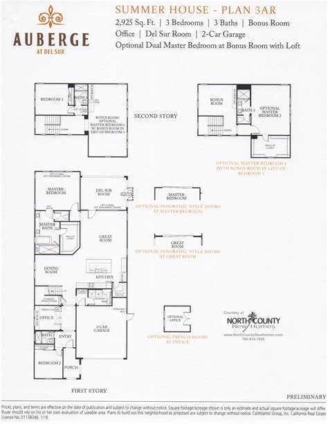 auberge at sur summer house floor plans county